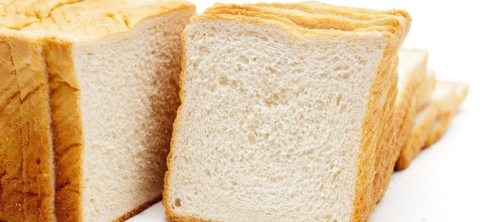Slices of toast bread.