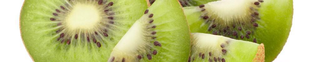 Pieces of sliced kiwi.