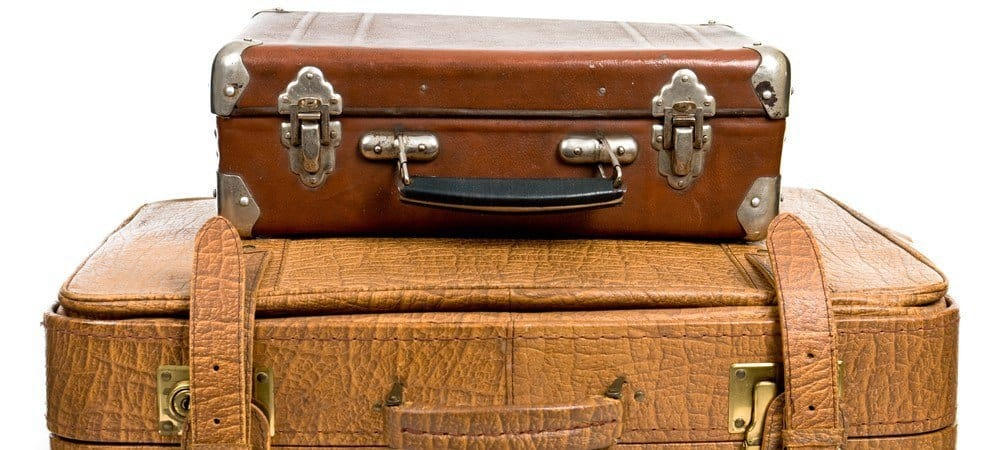 Two old luggage cases.