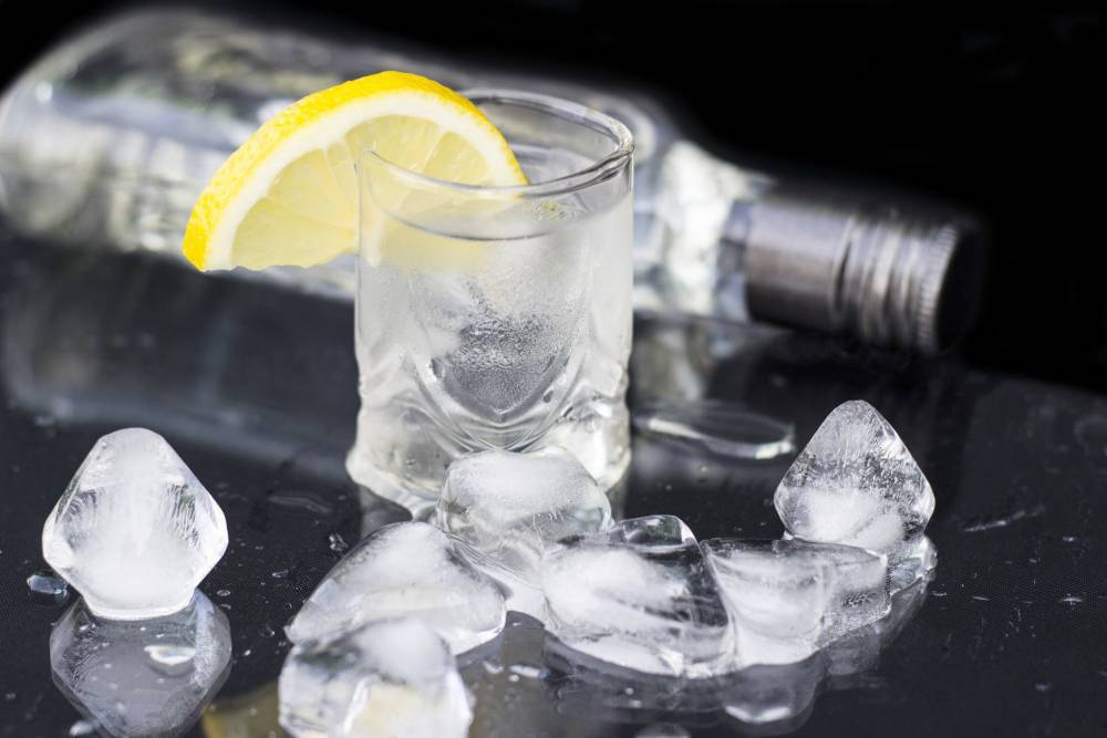 Gin with ice.