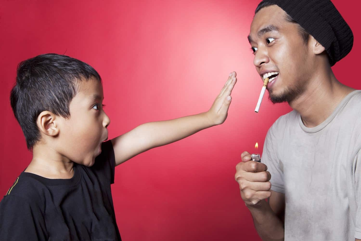A child saying no to smoking.