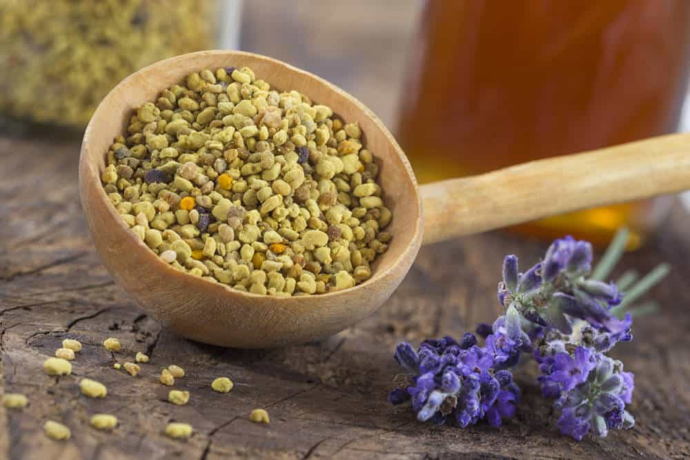A large spoonful of bee pollen.
