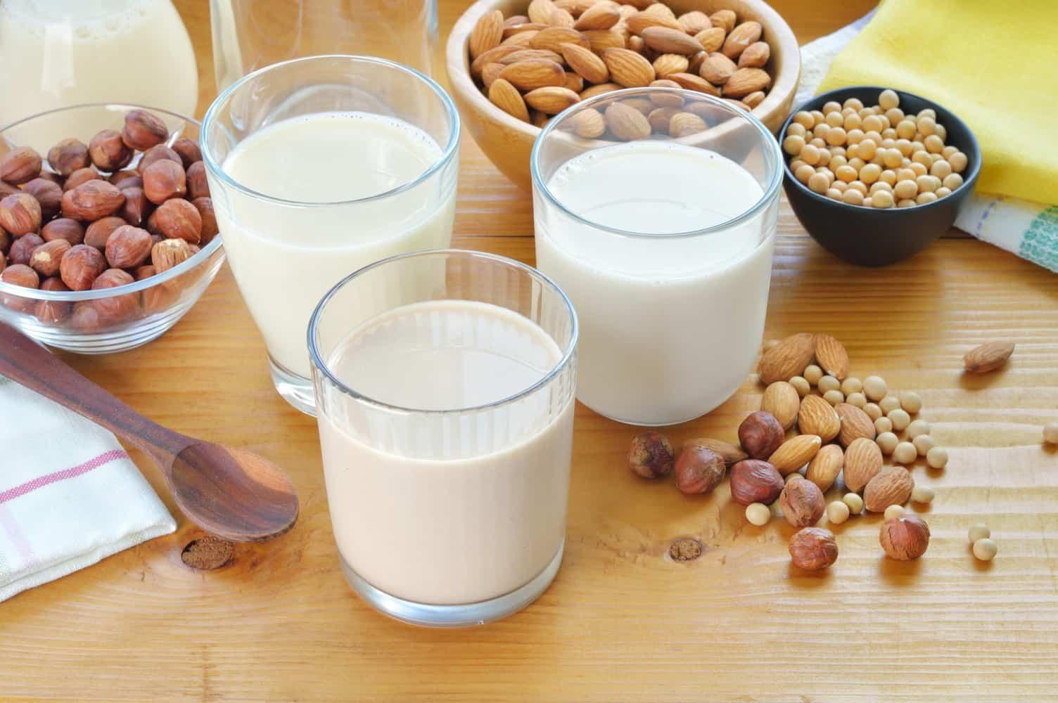 Various types of milk.