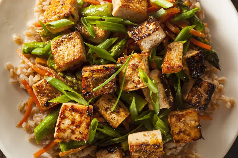 A tofu meal.