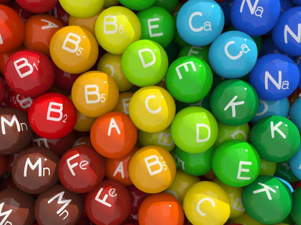 A graphic depicting various vitamins as globes.